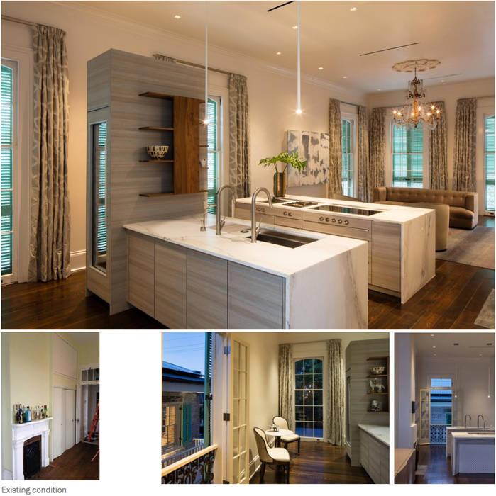 Marigny Residence, New Orleans:  Kitchen by studioWTA