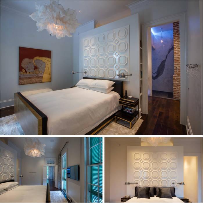 Marigny Residence, New Orleans:  Bedroom by studioWTA