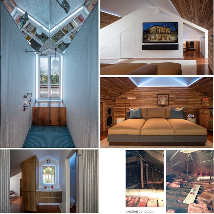 Marigny Residence, New Orleans:  Bathroom by studioWTA