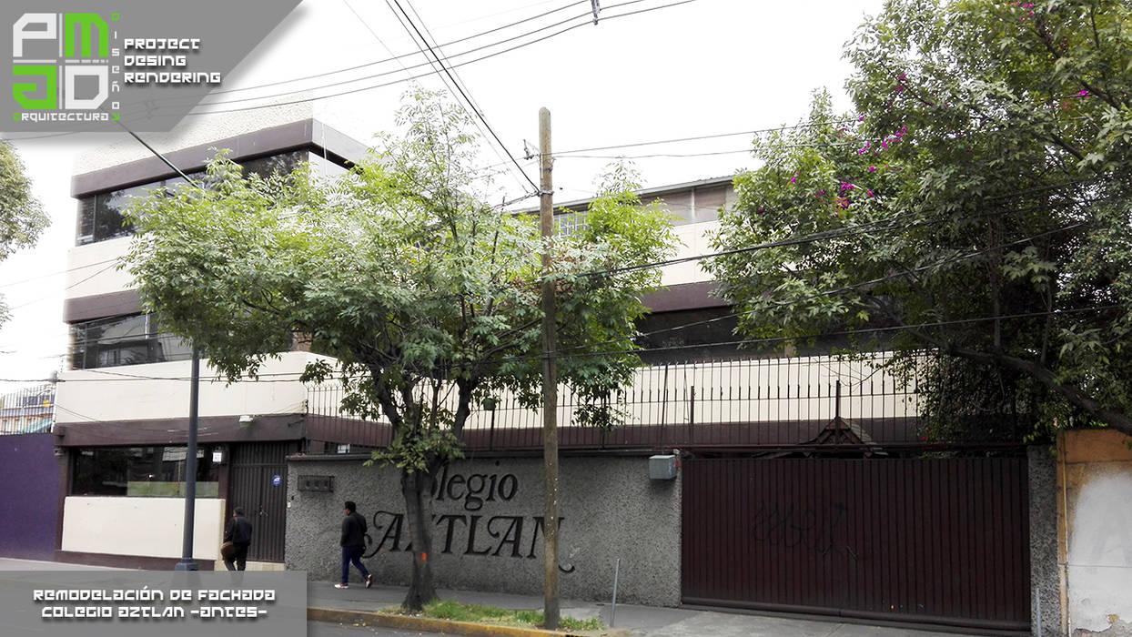Antes de la remodelación.: Casas de estilo moderno por PM ARQUITECTURA Y DISEÑO, S.A. DE C.V.