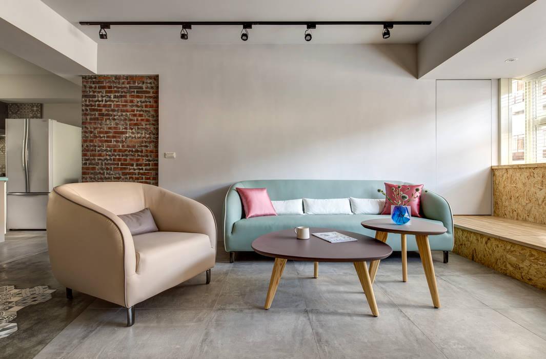 二手屋的小清新旅程 磨設計 客廳