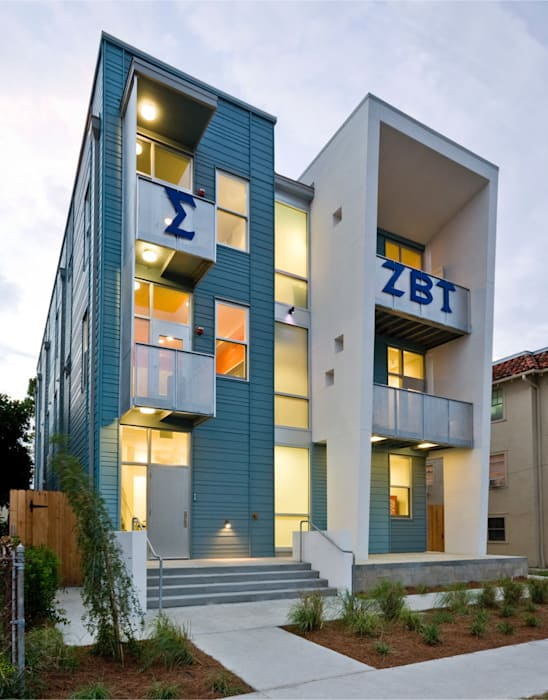 Zeta Beta Tau Fraternity House Reconstruction Modern Houses by studioWTA Modern