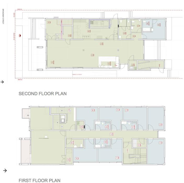 Zeta Beta Tau  Fraternity House Reconstruction:  Walls by studioWTA