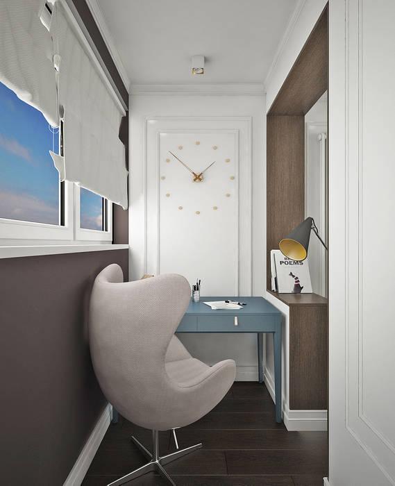 Спальня ЖК Новое Измайлово Рабочий кабинет в эклектичном стиле от Ирина Рожкова - частный дизайнер интерьера Эклектичный