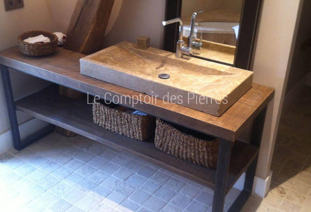 Vasque en pierre naturelle de bougogne salle de bains de - Vasque de salle de bain en pierre ...