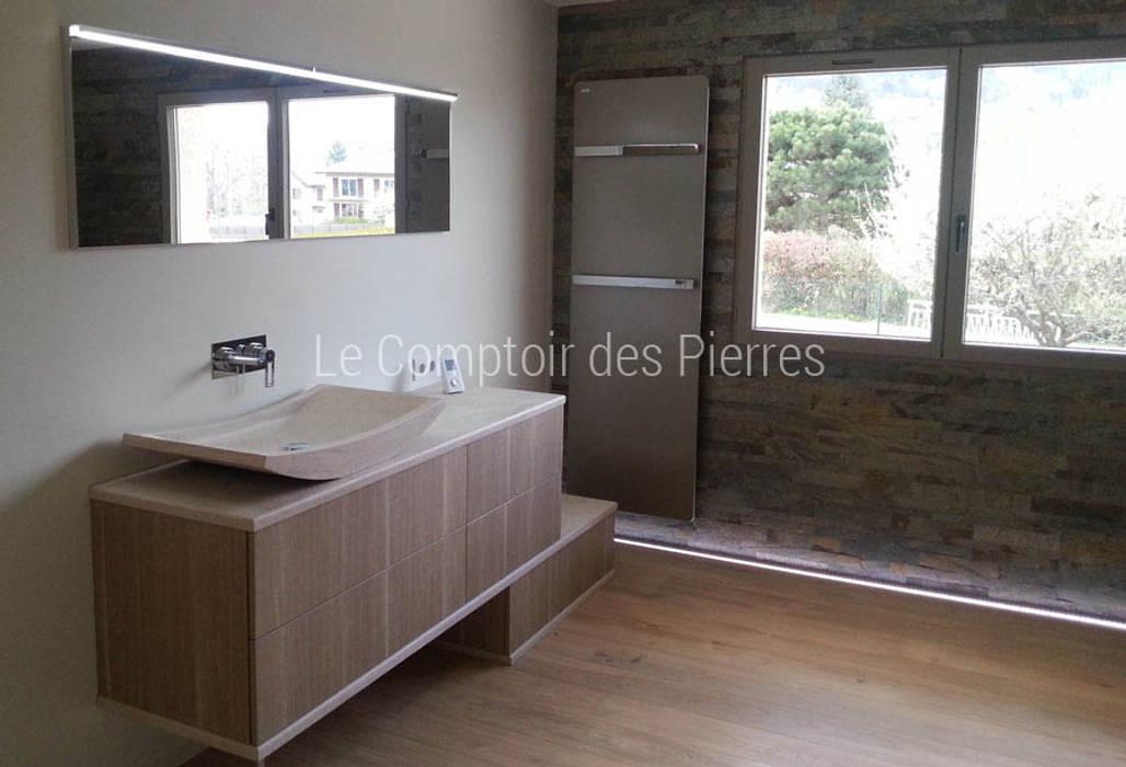 salle de bain en pierre de bourgogne salle de bains de style par le comptoir des pierres homify. Black Bedroom Furniture Sets. Home Design Ideas