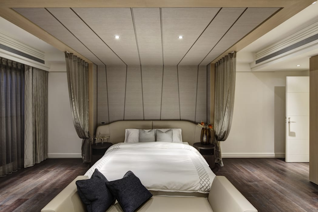 家是記憶的河:  臥室 by 大荷室內裝修設計工程有限公司