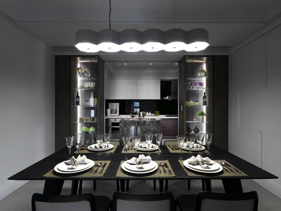 浪漫的歸屬:  餐廳 by 大荷室內裝修設計工程有限公司