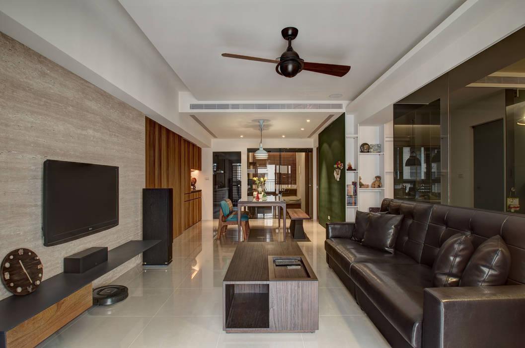 現代鄉村風 木皆空間設計 客廳