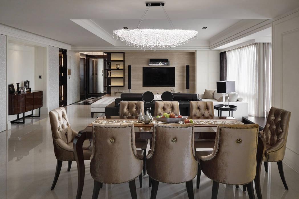 時尚精品宅 Modern dining room by 大荷室內裝修設計工程有限公司 Modern