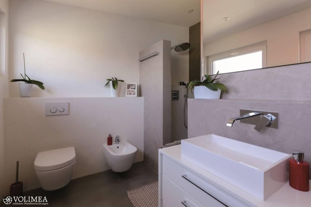 Schicke offene dusche – ausgeführt als fugenlose dusche: badezimmer ...