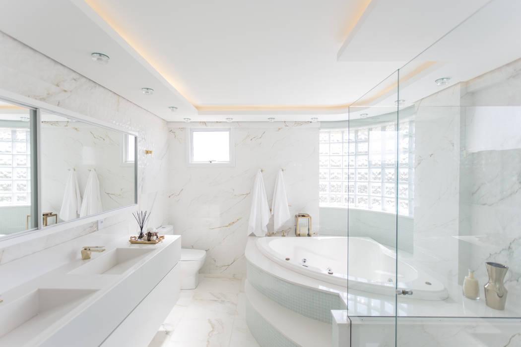 Ванные комнаты в . Автор – Cassiana Rubin Arquitetura, Минимализм Мрамор