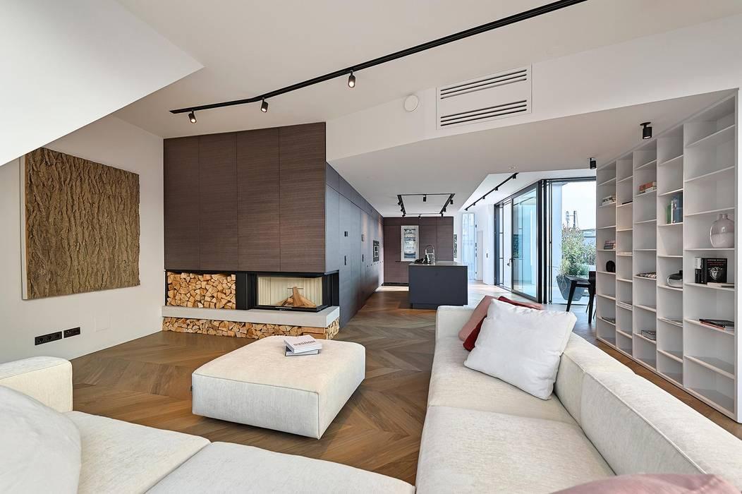 ห้องนั่งเล่น โดย FADD Architects, โมเดิร์น