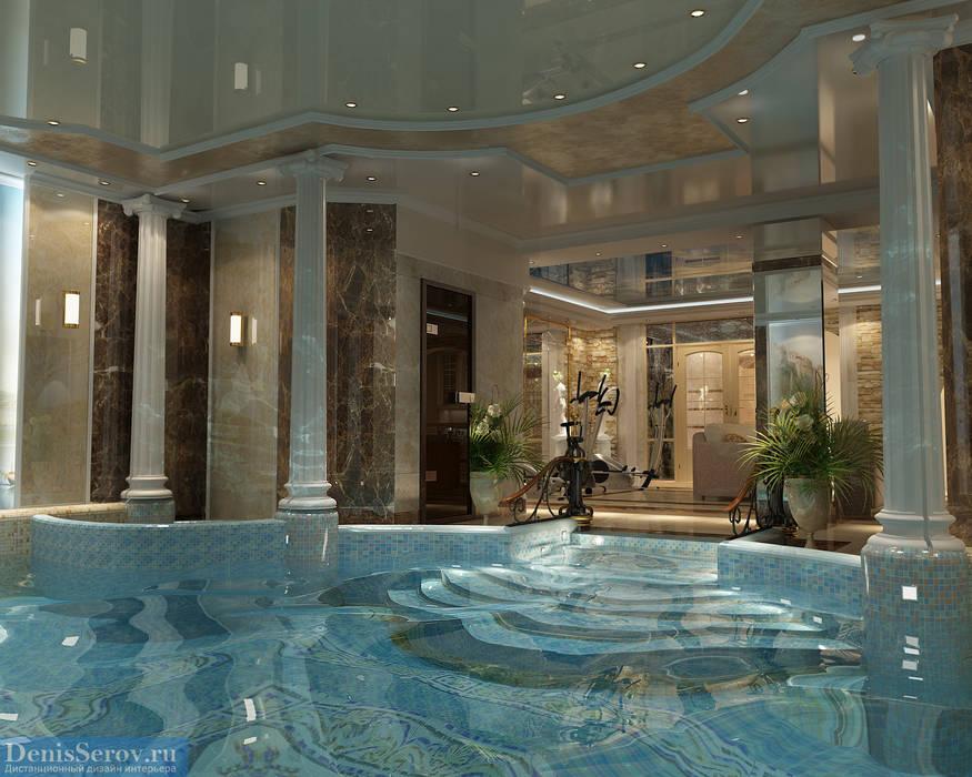 Бассейн в загородном коттедже в Подмосковье, классический стиль Бассейн в классическом стиле от Студия интерьера Дениса Серова Классический
