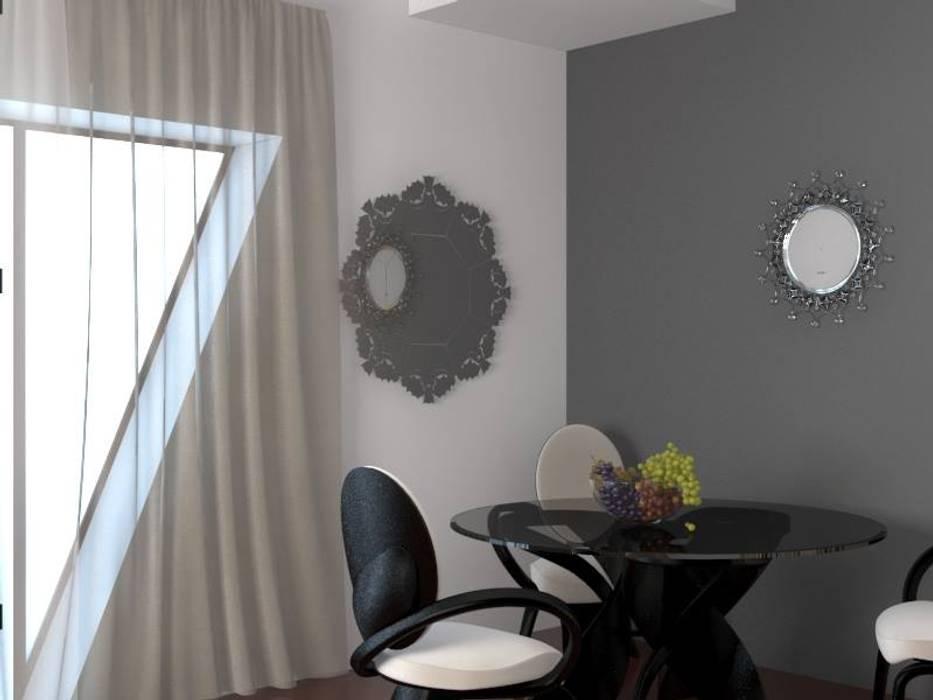 Soggiorno vista sul tavolo: Soggiorno in stile in stile Eclettico di Arch. Sorbo