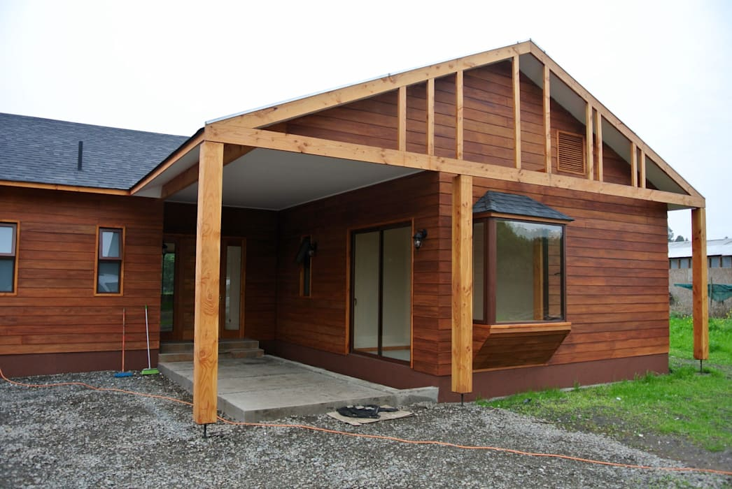 Country style house by AtelierStudio Country Wood Wood effect