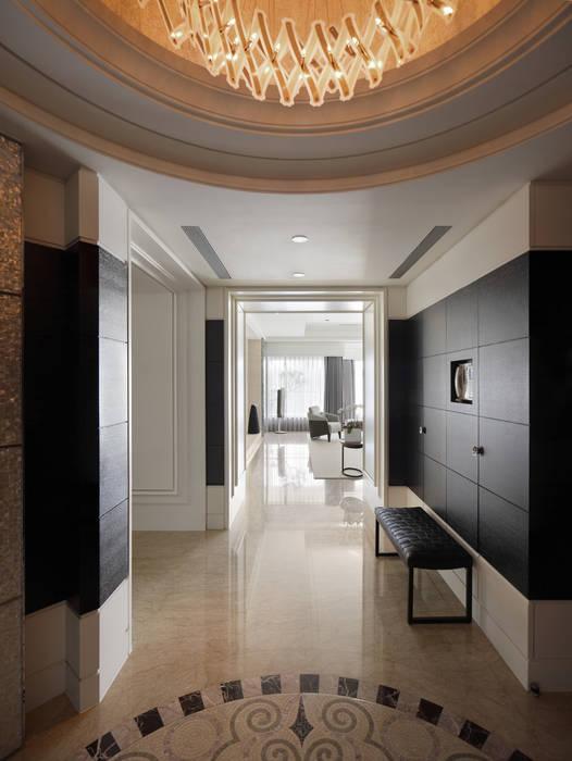 居悅:  走廊 & 玄關 by 大荷室內裝修設計工程有限公司