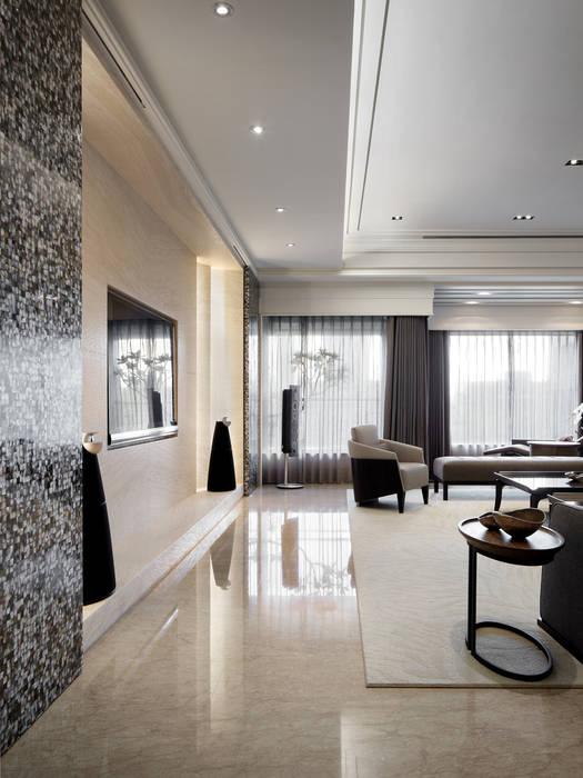 居悅 现代客厅設計點子、靈感 & 圖片 根據 大荷室內裝修設計工程有限公司 現代風
