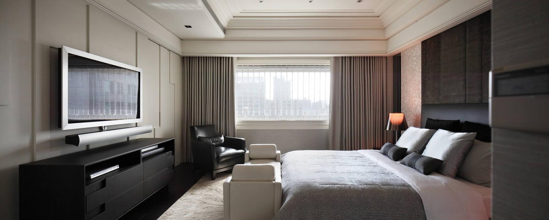 居悅:  臥室 by 大荷室內裝修設計工程有限公司