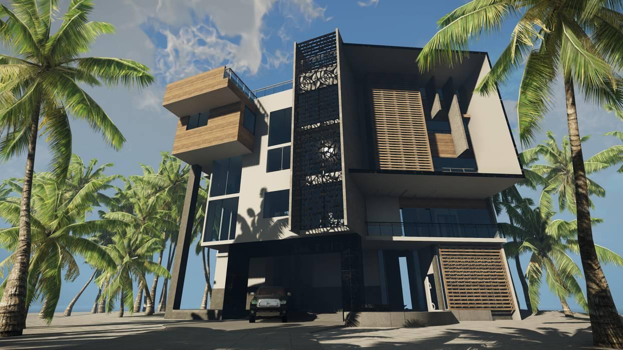 CASA EMR : Casas de estilo moderno por SG Huerta Arquitecto Cancun