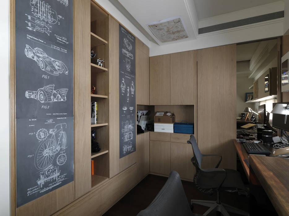 家的風景:  書房/辦公室 by 大荷室內裝修設計工程有限公司