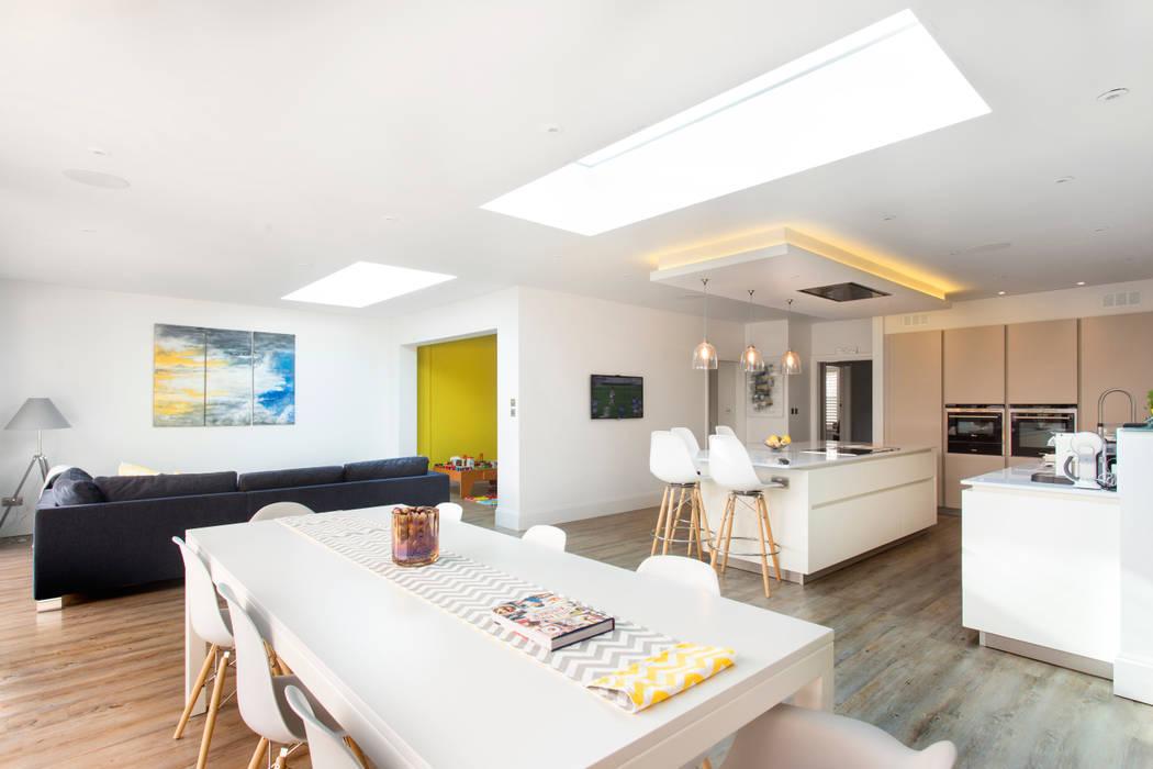 Open plan living Link It Solutions Ltd Modern Living Room