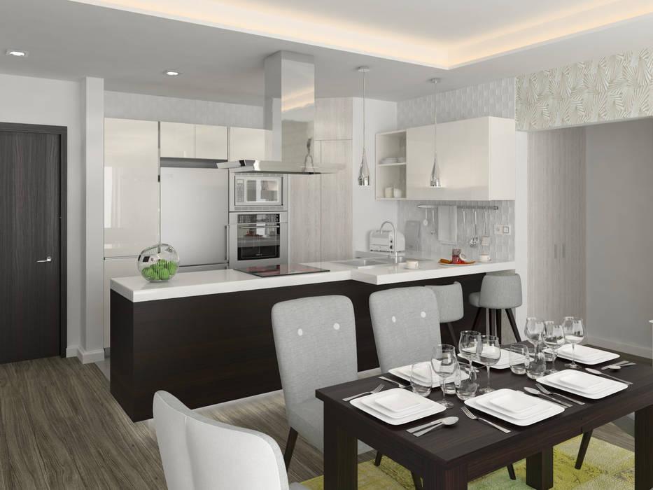 Apartamento Kikambala Cocina BELTÁ & FRAJUMAR CocinaMesas, sillas y bancos