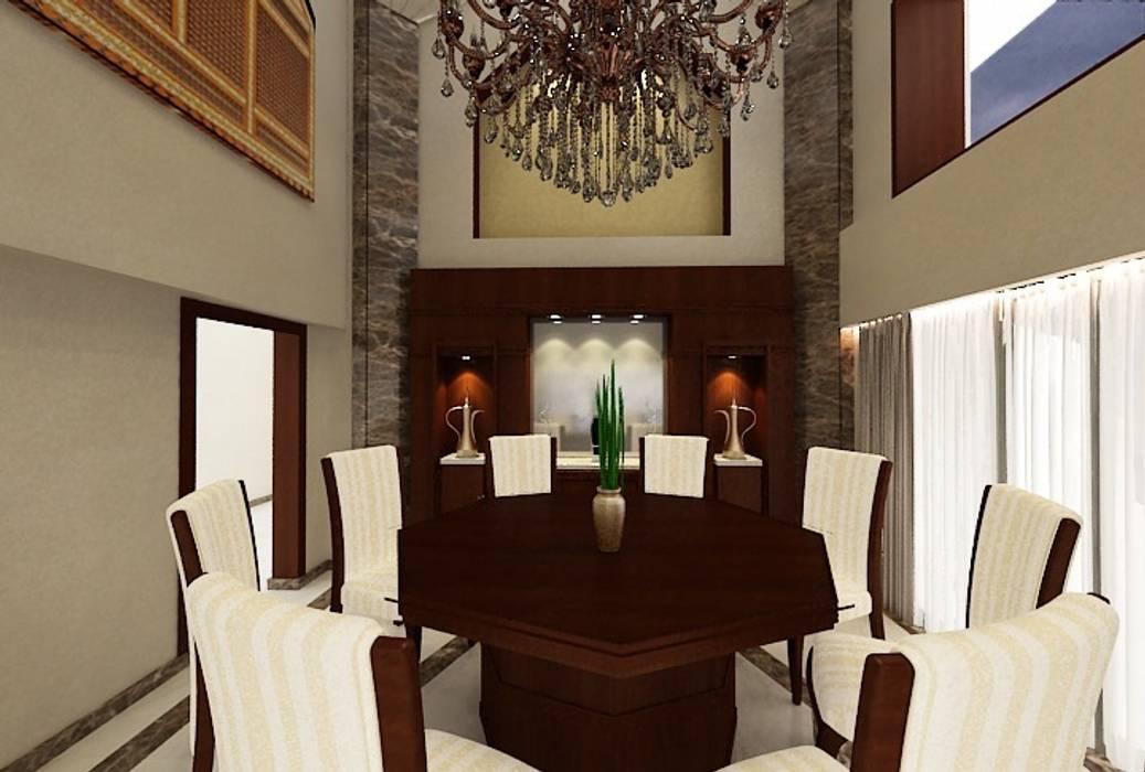 تشطيب فيلا المعادي:  غرفة السفرة تنفيذ الرواد العرب, كلاسيكي