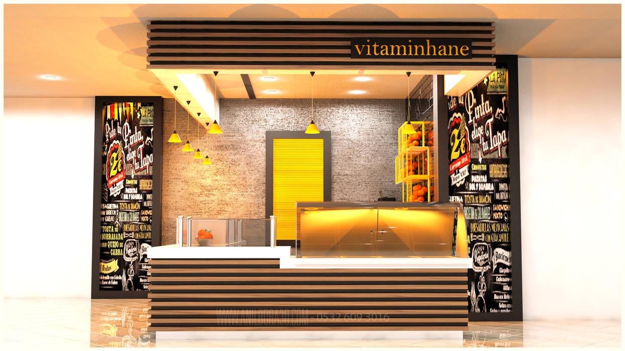de estilo industrial por anılbora3D & İÇ MİMARLIK, Industrial Madera maciza Multicolor