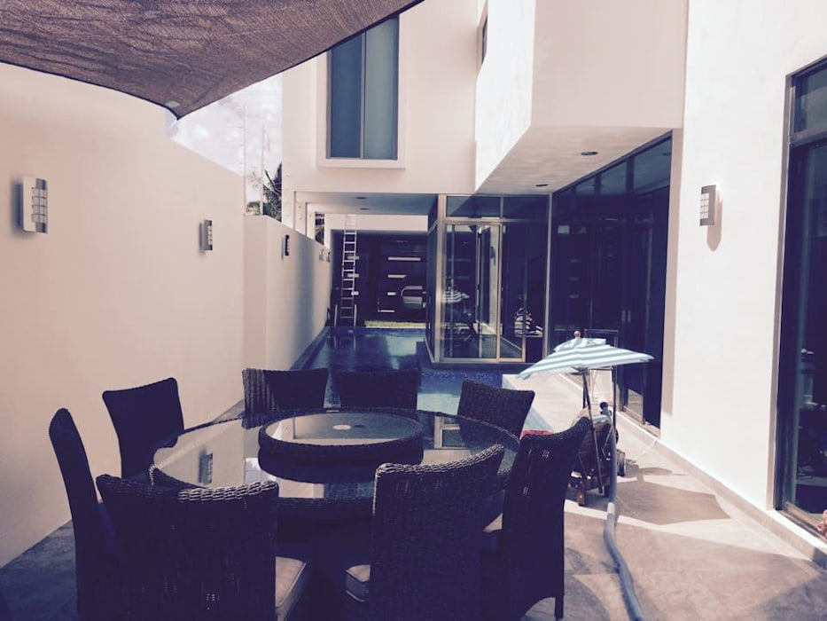 TERRAZA: Casas de estilo ecléctico por CA ARQUITECTURA