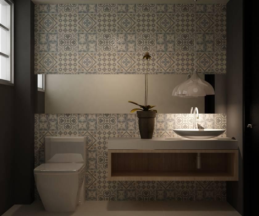 Salle de bain moderne par santiago dussan architecture & Interior design Moderne