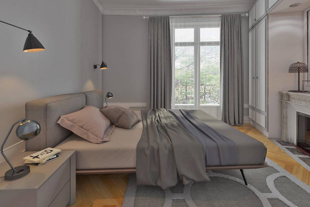 chambre à coucher-suite parentale: Chambre de style de style Moderne par Agence KP