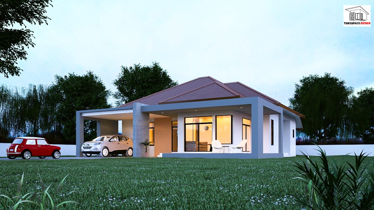 現代房屋設計點子、靈感 & 圖片 根據 Takuapa125 現代風