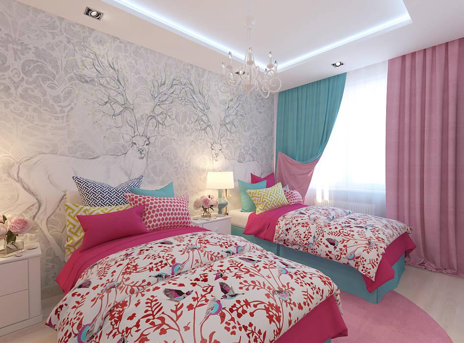 Студия интерьера Дениса Серова ห้องนอนเด็ก