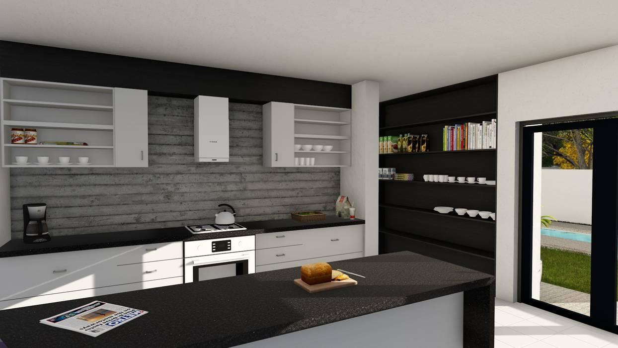 Cuisine moderne par Ellipsis Architecture Moderne Bois Effet bois