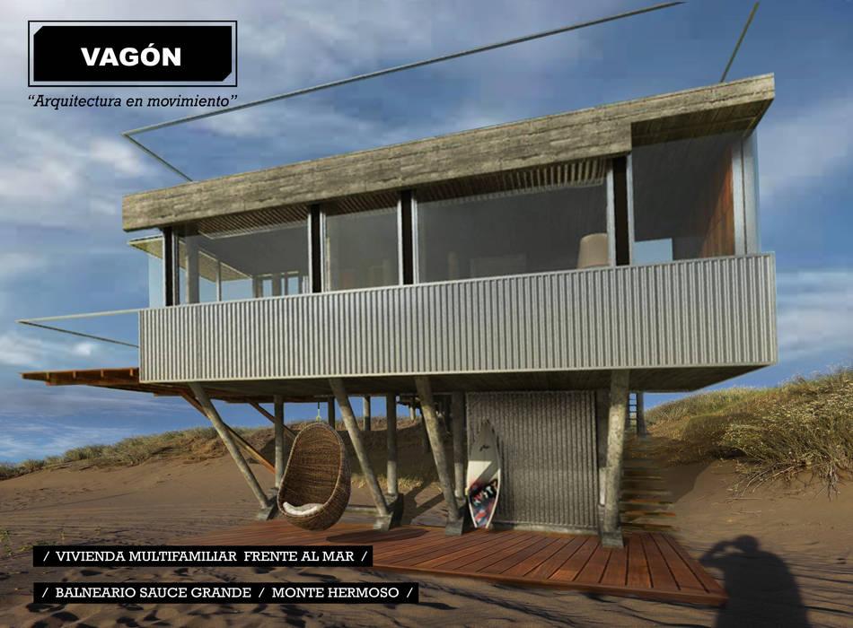 3 casas frente al mar: Casas de estilo moderno por juan olea arquitecto