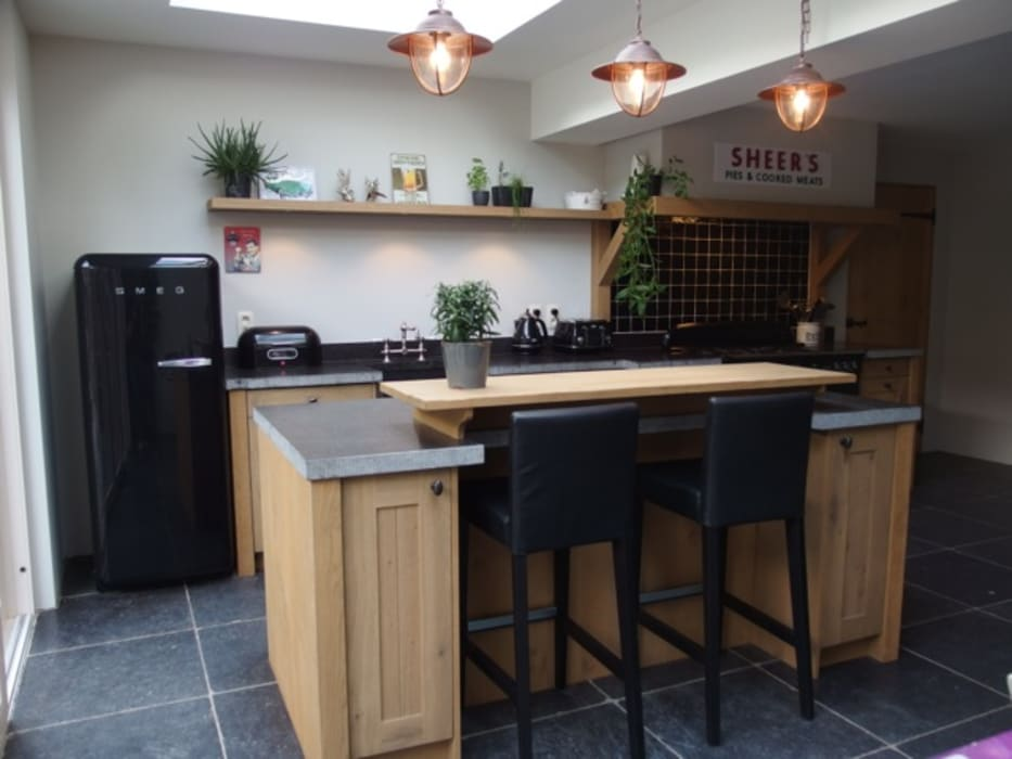 De Lange Keukens Country Style Kitchen Wood Wood Effect Homify