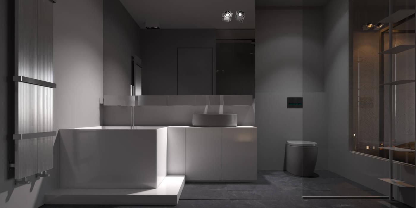 Baños de estilo minimalista de IGOR SIROTOV ARCHITECTS Minimalista
