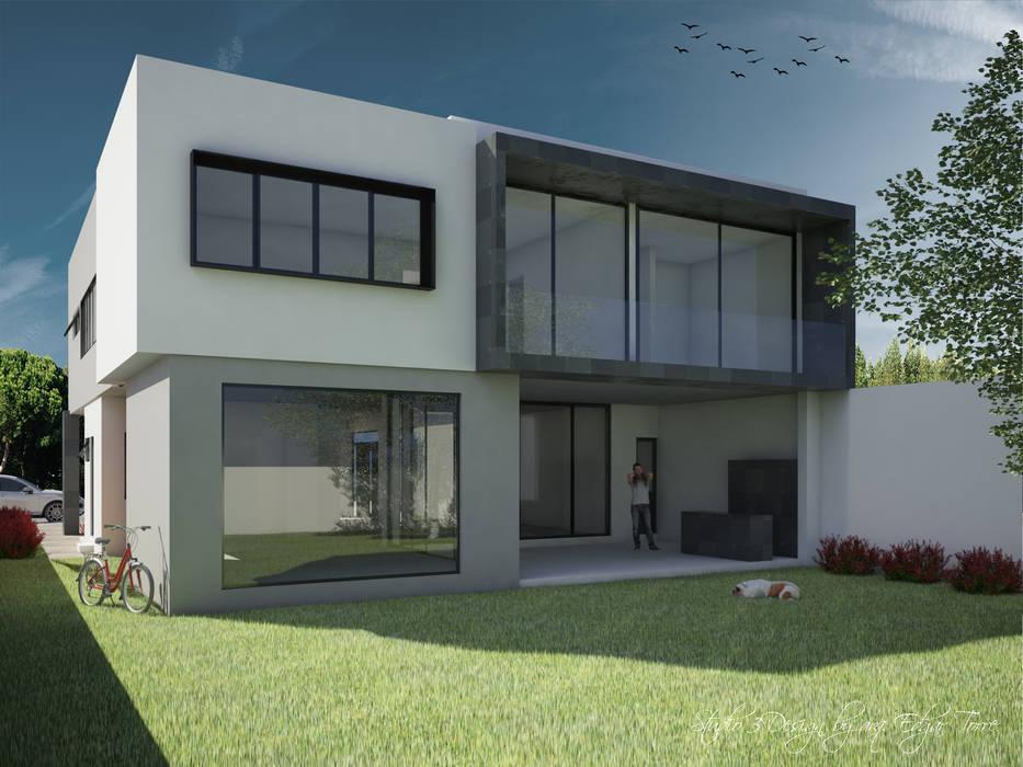 Casa Virreyes: Casas de estilo minimalista por Studio 3Design