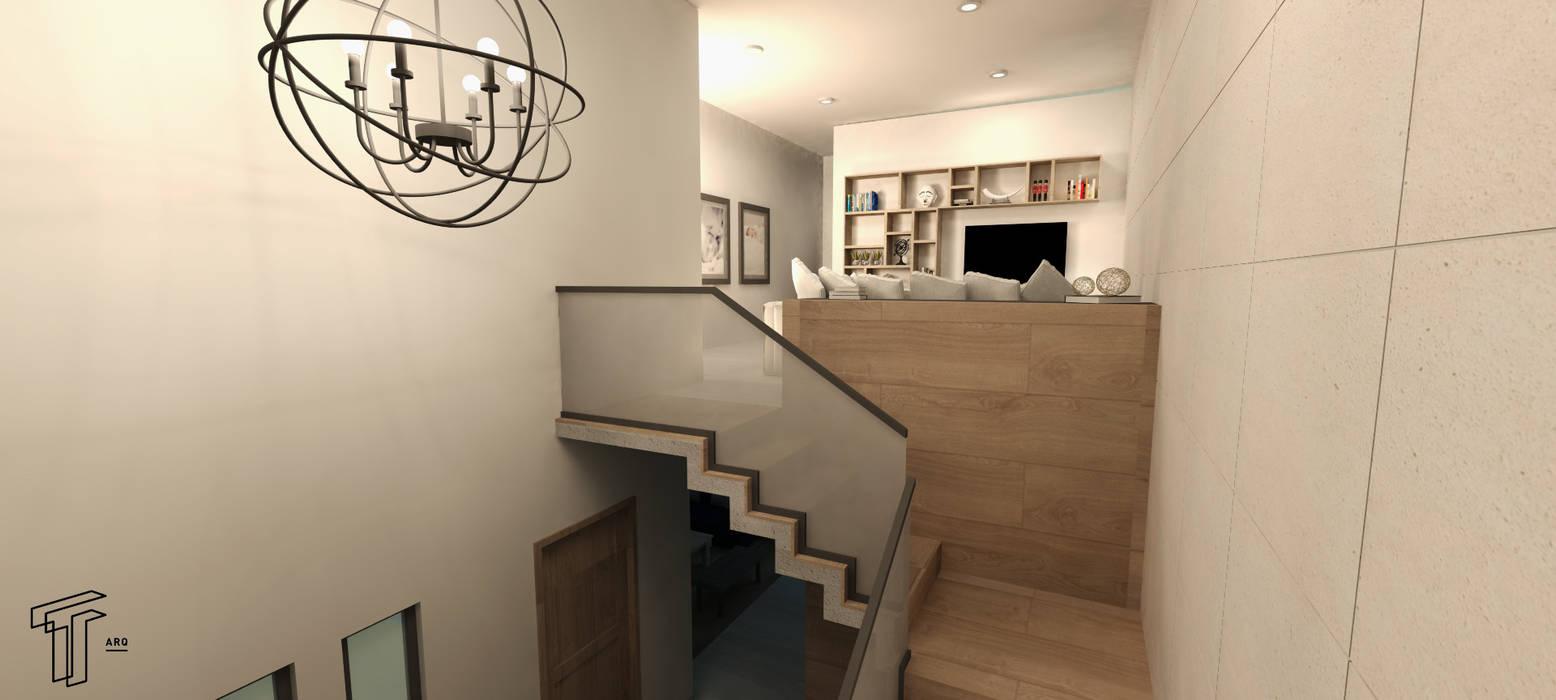 Pasillos, vestíbulos y escaleras modernos de TAMEN arquitectura Moderno