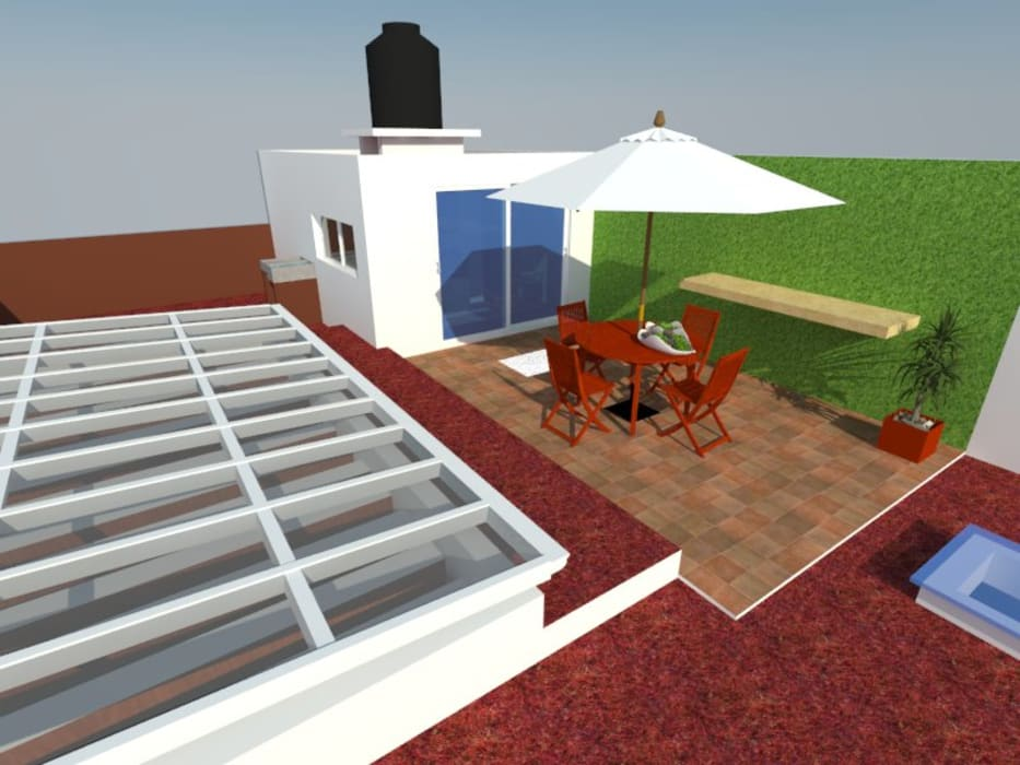 Modern Terrace by MVarquitectos Arq. Irma Mendoza Modern