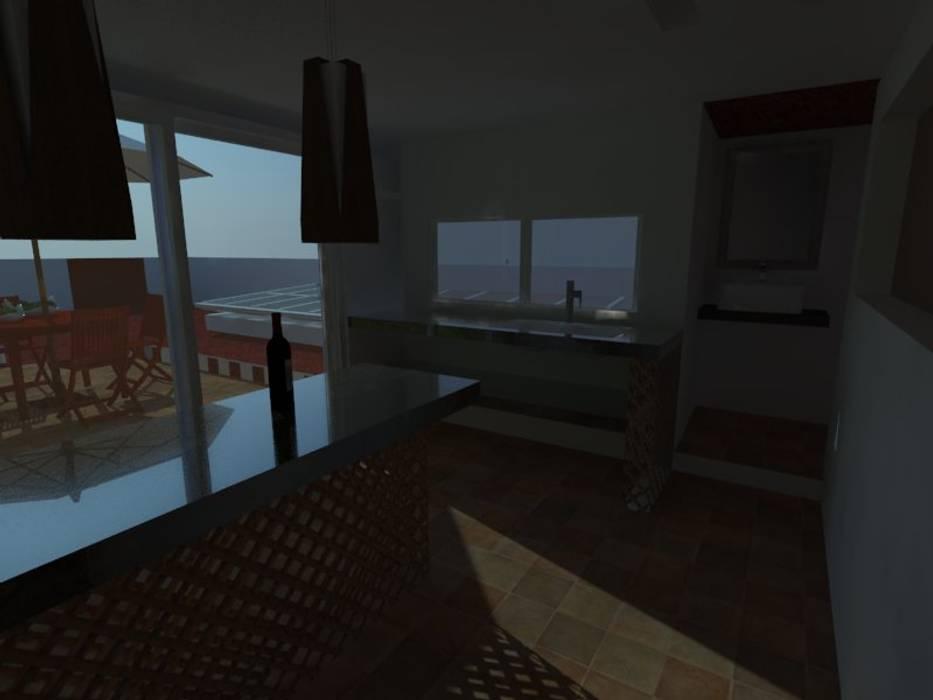 Modern Kitchen by MVarquitectos Arq. Irma Mendoza Modern