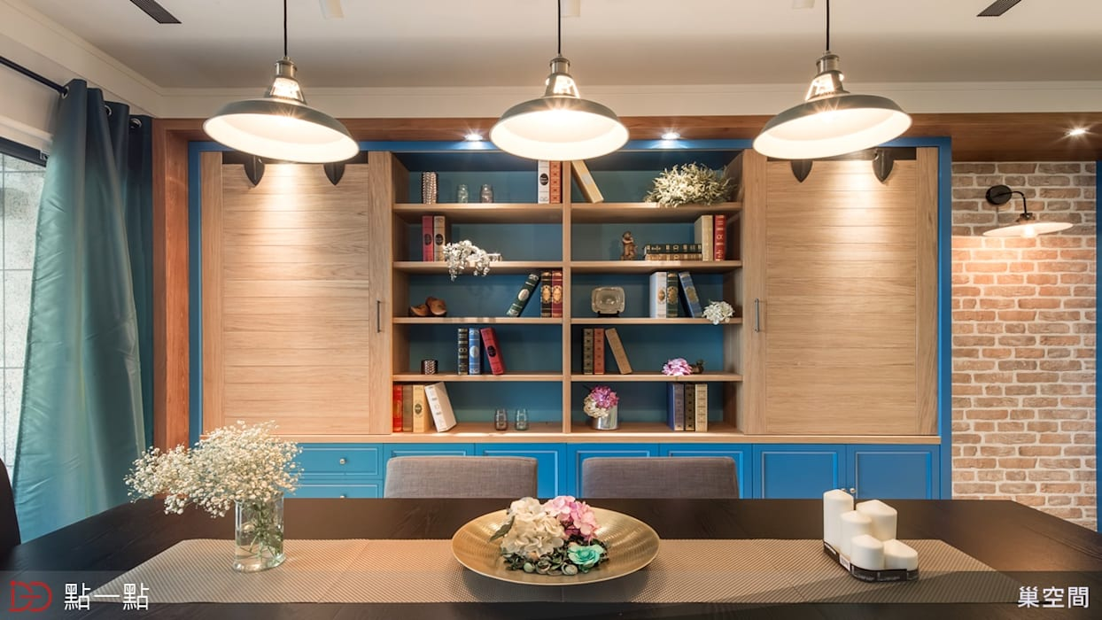 巢空間室內設計:  客廳 by iDiD點一點設計