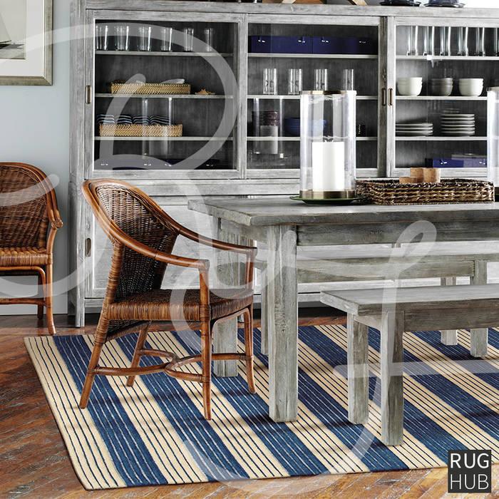 SHIMMER MIDNIGHT BLUE:  Dining room by Rug Hub