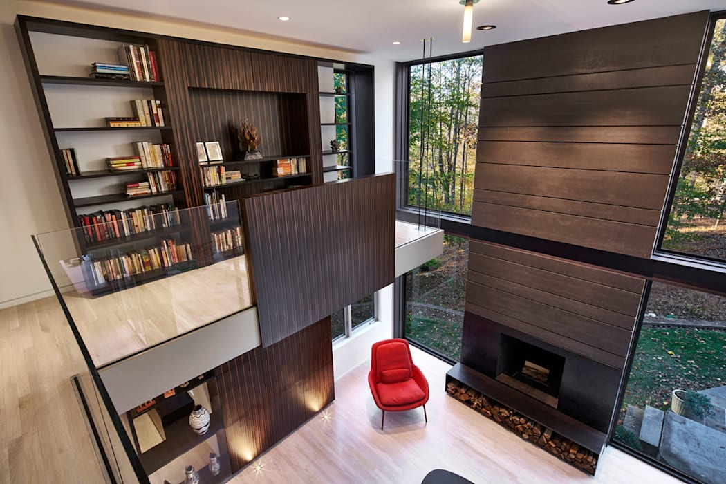 Smoky Quartz Modern Living Room by KUBE architecture Modern