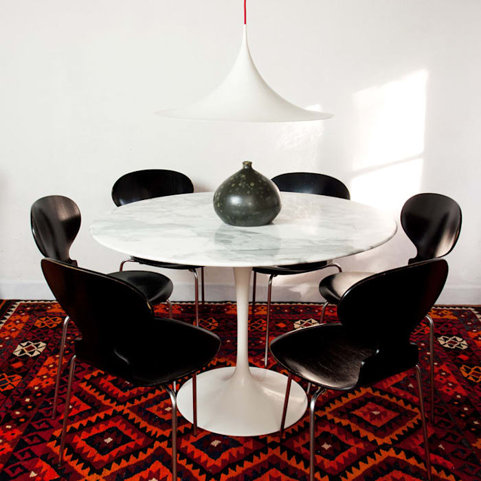Table à manger tulipe en marbre – design eero saarinen editeur knoll ...