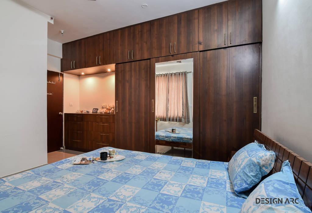 Bed Room interior Bangalore Mediterranean style bedroom by Design Arc Interiors Interior Design Company Mediterranean Plywood