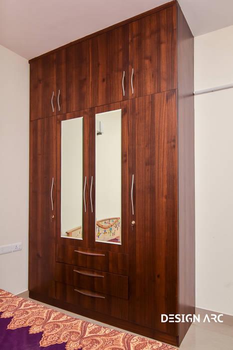 Interior Design Bangalore 2BHK Apartment Classic style bedroom by Design Arc Interiors Interior Design Company Classic Plywood
