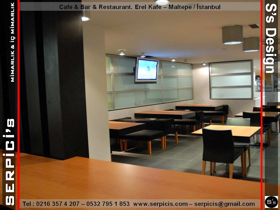 Gastronomie moderne par SERPİCİ's Mimarlık ve İç Mimarlık Architecture and INTERIOR DESIGN Moderne Aluminium/Zinc