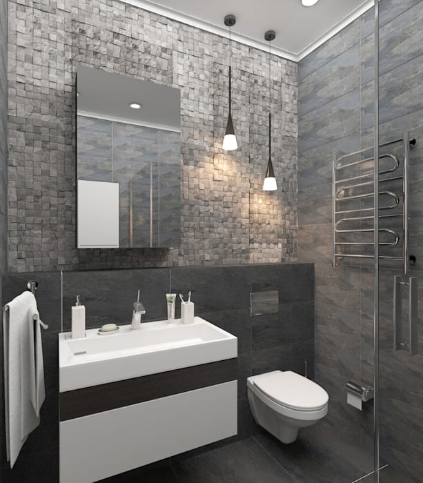 Коттедж Ванная комната в стиле модерн от Первое Дизайн-Бюро Модерн